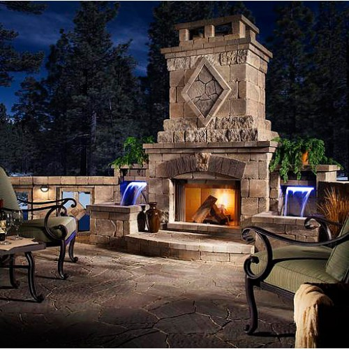 Belgard Elements :: Bristol Fireplace (Water Feature) :: Patio Supply